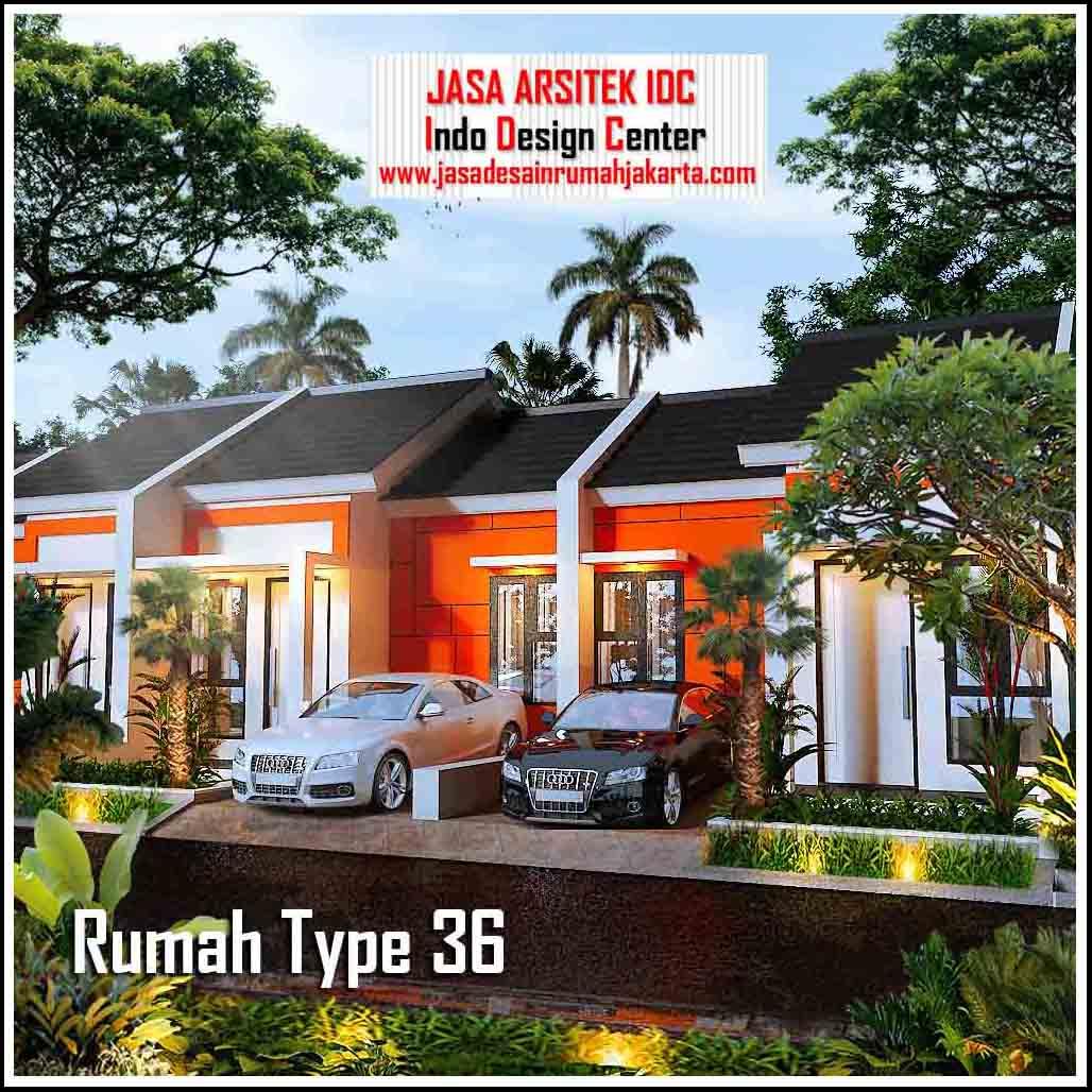 Gambar Rumah Type 36 dengan Denah || Jasa Desain Rumah ...