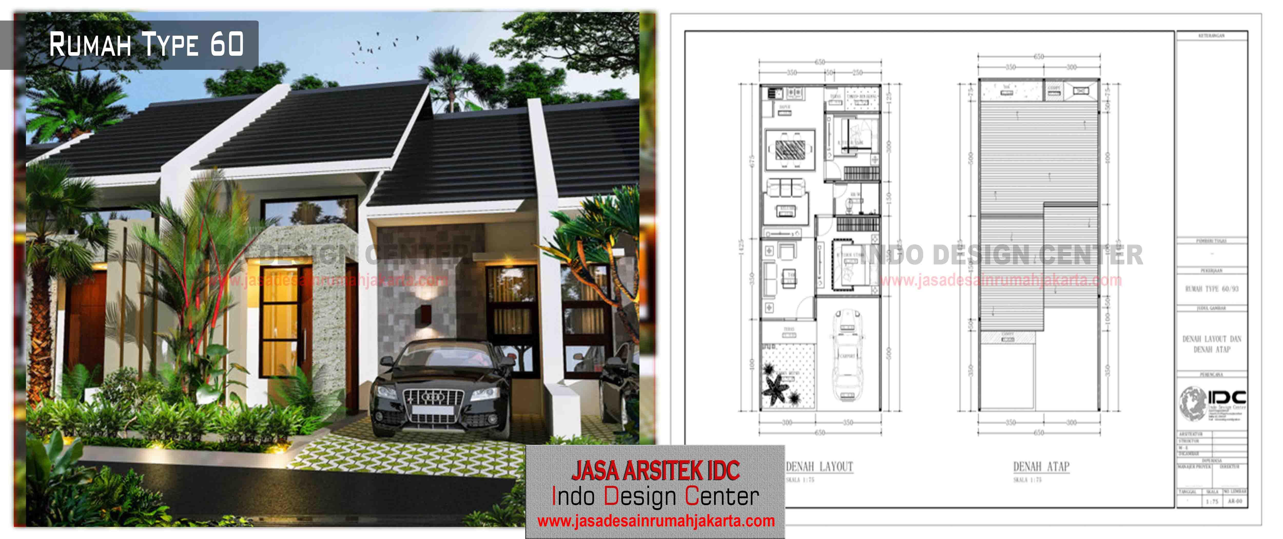 21 - Desain Rumah Type 60 | Kumpulan Contoh Desain Rumah ...