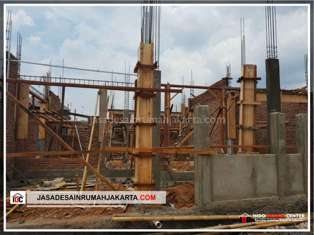 Bekisting Kolom Rumah Bu Cahya - Arsitek Gambar Desain Rumah Klasik Modern Di Bekasi-Jakarta-Surabaya-Tangerang-Bandung-Jasa Konsultan Desain Arsitek Profesional 2
