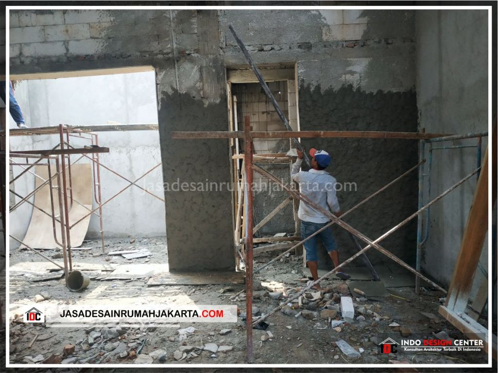 Finishing Plester Rumah Minimalis Bu Citra - Arsitek Gambar Rumah Klasik Modern Di Bekasi-Jakarta-Surabaya-Tangerang-Bandung-Jasa Konsultan Desain Arsitek Profesional 1