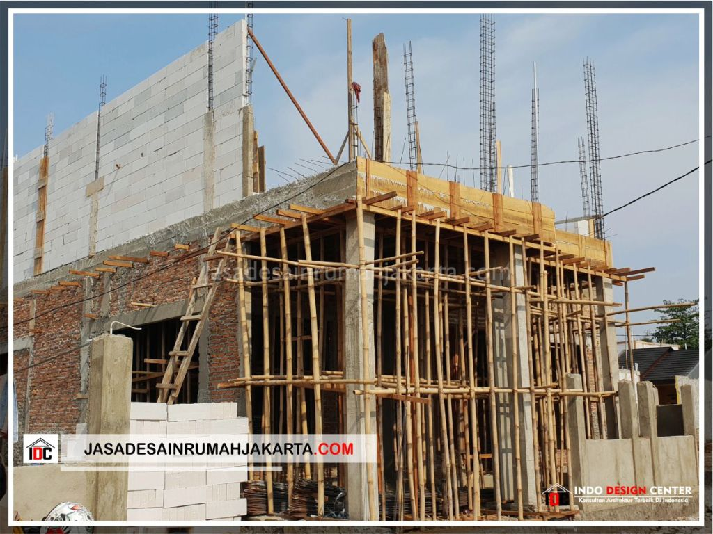 Kontruksi Lantai 2 Rumah Bu Cahya - Arsitek Gambar Desain Rumah Klasik Modern Di Bekasi-Jakarta-Surabaya-Tangerang-Bandung-Jasa Konsultan Desain Arsitek Profesional 1
