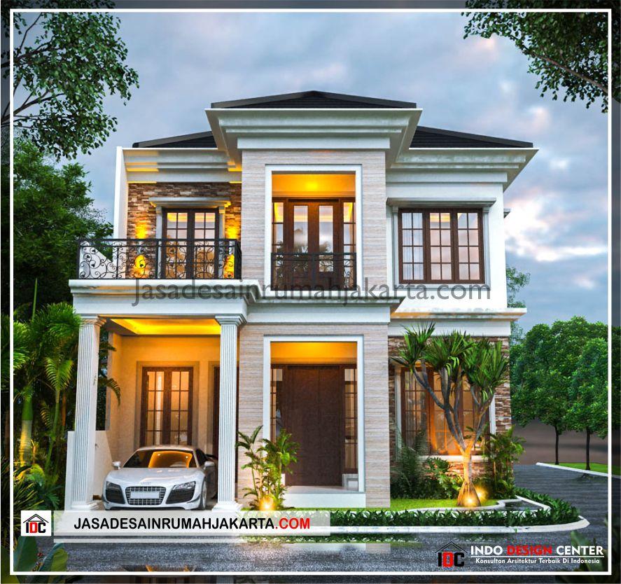 Rencana Desain Rumah Bu Cahya - Arsitek Gambar Desain Rumah Klasik Modern Di Bekasi-Jakarta-Surabaya-Tangerang-Bandung-Jasa Konsultan Desain Arsitek Profesional 1