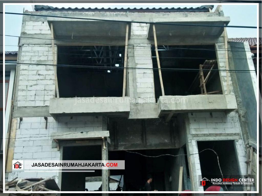 Tampak Depan Rumah Minimalis Bpk Soni-Arsitek Gambar Rumah Klasik Modern Di Jakarta-Bekasi-Surabaya-Tangerang-Bandung-Jasa Konsultan Desain Arsitek Profesional 2