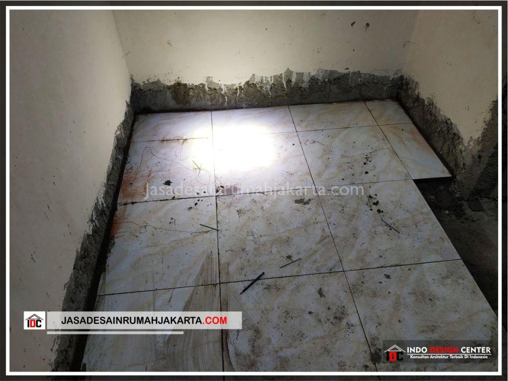 Flooring Lantai 1 Rumah Bpk Tarsi-Arsitek Gambar Desain Rumah Minimalis Modern Di Tangerang-Jakarta-Surabaya-Bekasi-Bandung-Jasa Konsultan Desain Arsitek Profesional 1