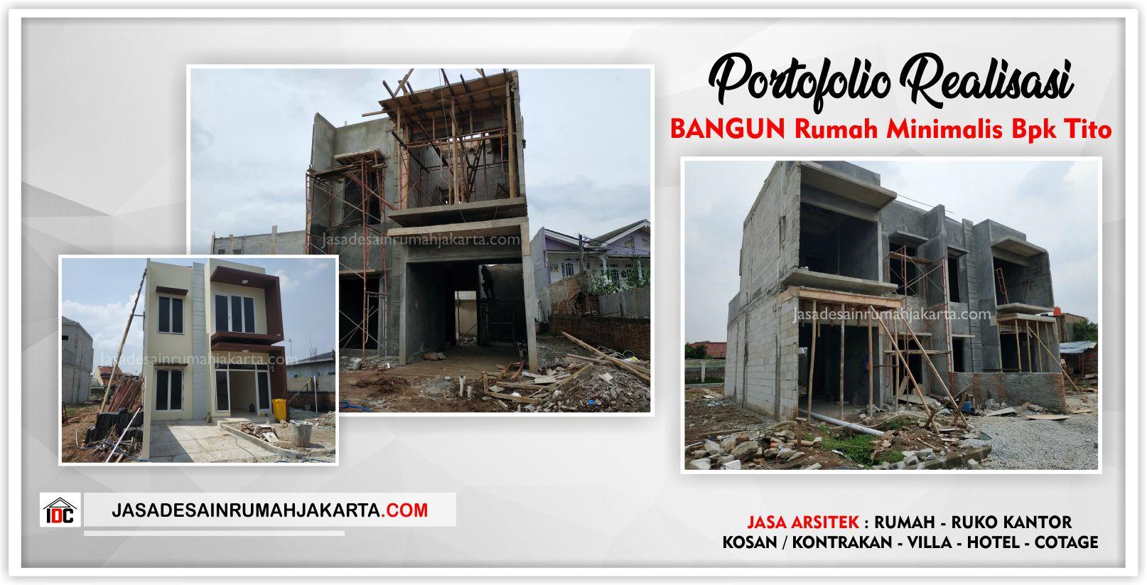 Portofolio Realisasi Rumah Bpk Tito-Arsitek Gambar Desain Rumah Klasik Modern Di Bekasi-Jakarta-Surabaya-Tangerang-Bandung-Depok-Jasa Konsultan Desain Arsitek