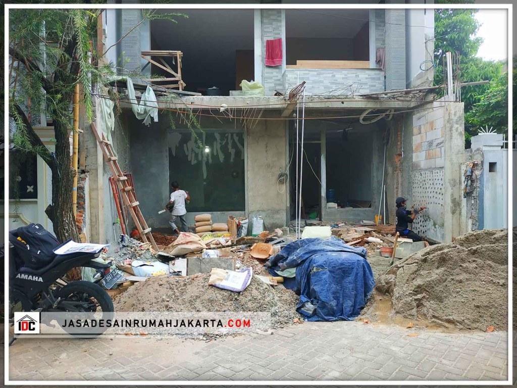 Realisasi Desain Rumah Classic Modern Pak Amin Di Jakarta Barat Kunjungan Mar 2019