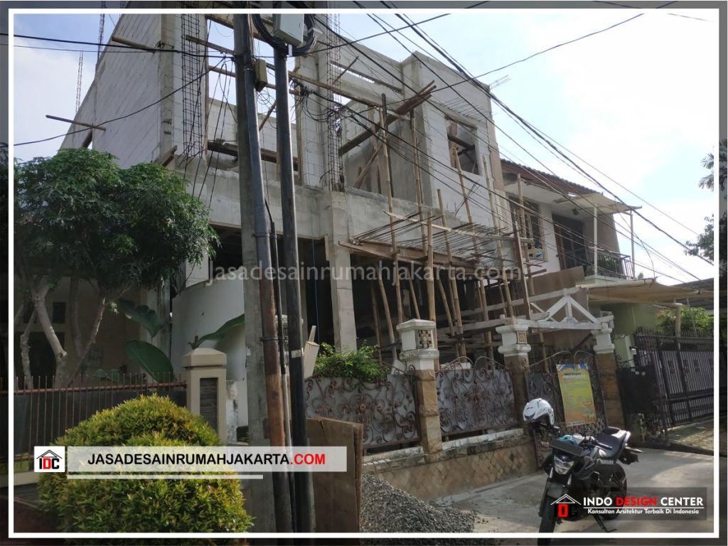 Tampak Depan Rumah Bpk Adi-Arsitek Gambar Desain Rumah Minimalis Modern Di Tangerang-Jakarta-Surabaya-Bekasi-Bandung-Jasa Konsultan Desain Arsitek Profesional 1