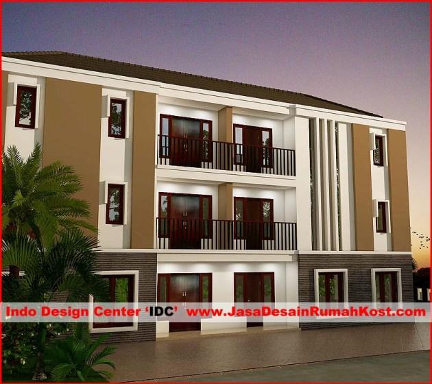 Desain Rumah Kost 3 Lantai di Karawaci a