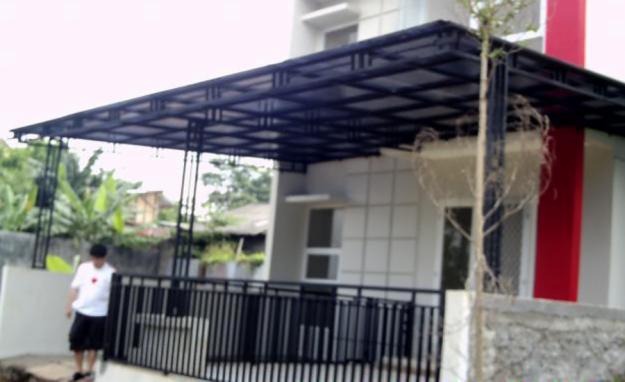 model rangka baja ringan kanopi rumah minimalis | jasa konstruksi ...