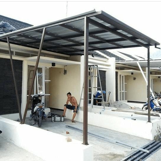 rab kanopi baja ringan contoh pembuatan