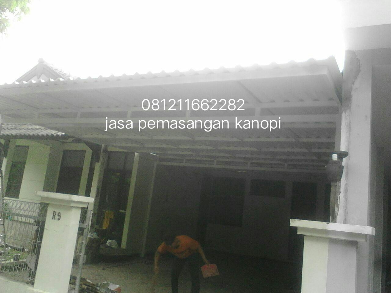 kanopi baja ringan tiang double harga atap polycarbonat | 0812 1166 2282 pasang ...