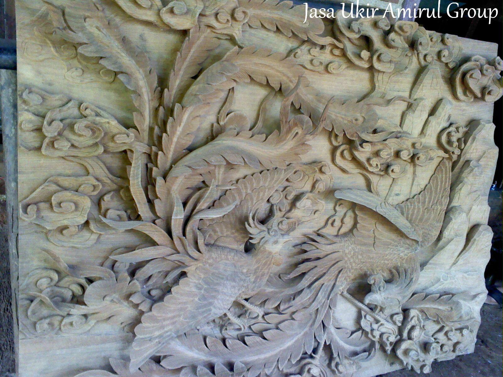 relief kayu jati glondong  Jasa Ukir Online  Jasa Ukiran