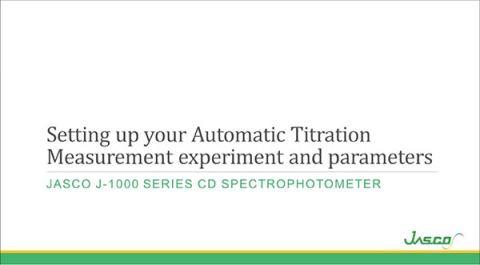 Automatic Titration Measurement