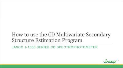 Multivariate Secondary Structure Estimation