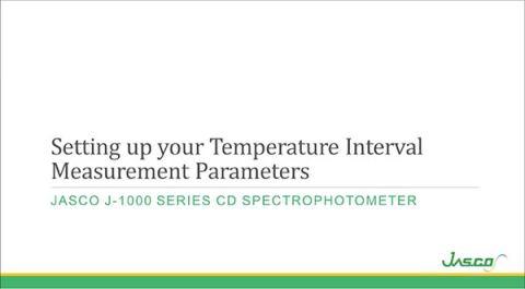 Temperature Interval Scan Measurement Parameters