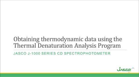 Thermal Denaturation Analysis Program