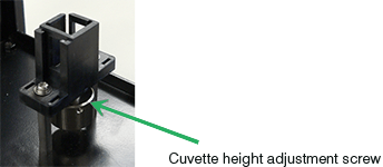 UCB-710 Rectangular cell Holder with cuvette height adjustment