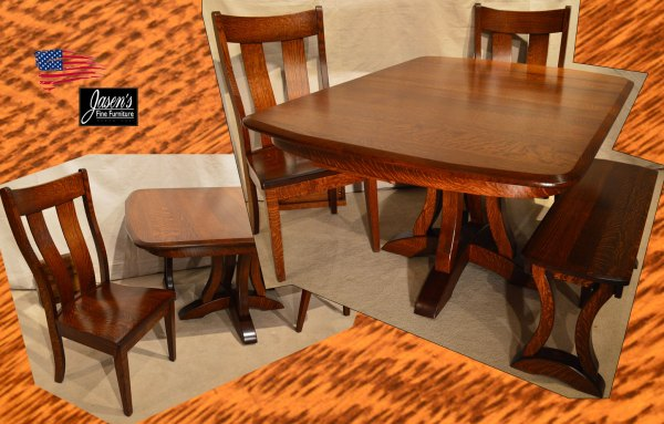 Amish Richfield Table & Side Chairs. Jasens Furniture