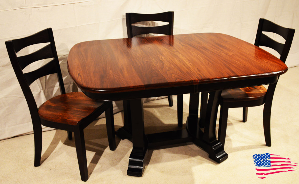 amish kitchen tables solid wood cabinets wholesale elm dining table jasen s fine furniture since 1951