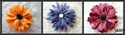 Easy Fabric Flower Tutorial {How To Make Fabric Flowers}