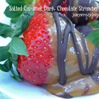 Salted Caramel Dark Chocolate Strawberries