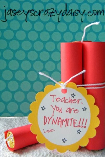You're Dynamite Teacher Appreciation Gift {Teacher, Dad, Valentine, and anyone else} Free Printable Tag