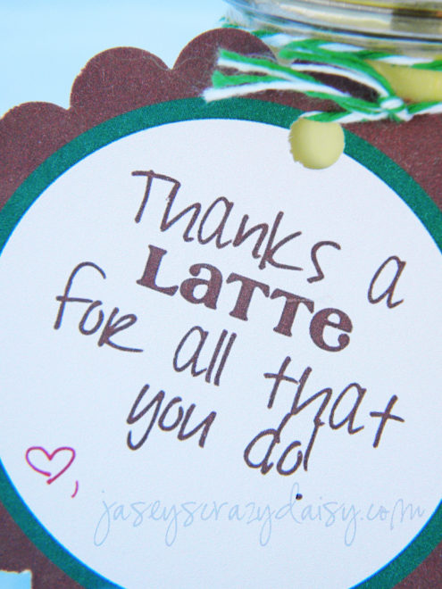 image regarding Thanks a Latte Printable Tag named Owing A Latte Printable - Jaseys Mad Daisy