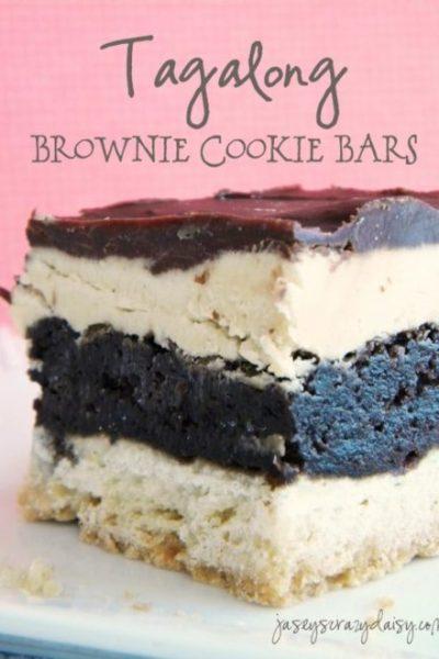 Tagalong Brownie Cookie Bars {Tagalong Brookies}