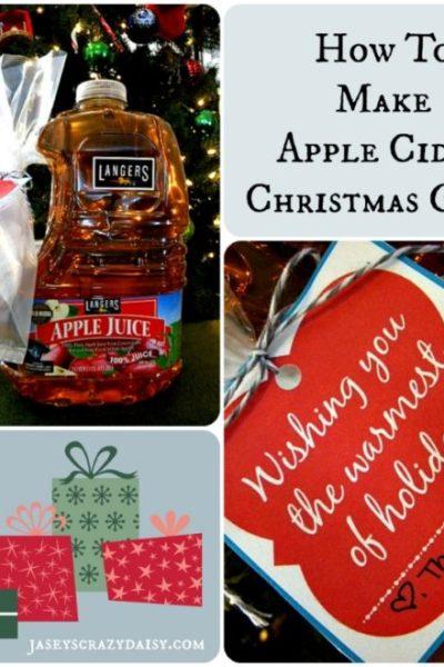 How To Make Homemade Apple Cider Christmas Gifts with Printable Tags