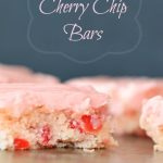 Homemade Cherry Chip Bars