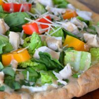 Chicken Cesar Salad Pizza