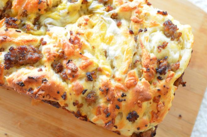 Cheesy Sausage Loaf