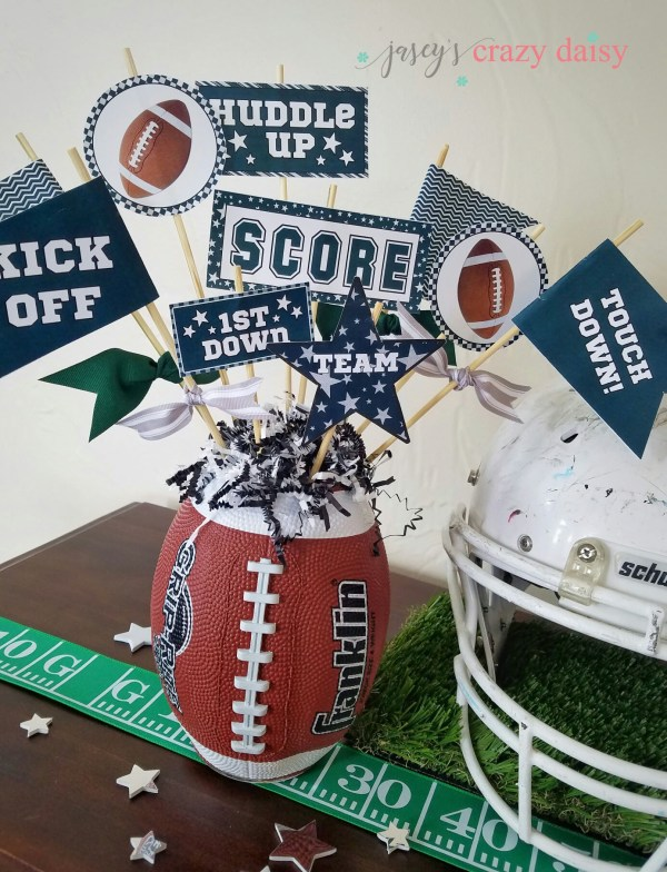 midnight green and black football pennant printables