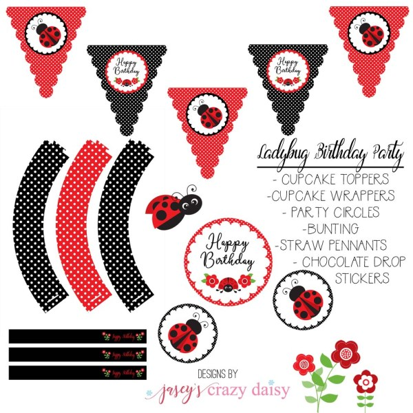Ladybug Party Printables