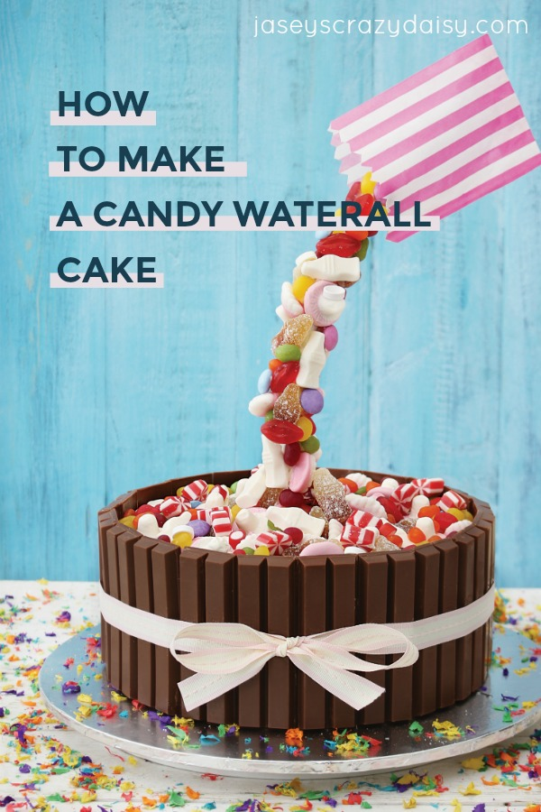 How To Make Candy Waterfall Cakes