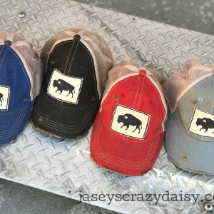 distressed daisy buffalo hats