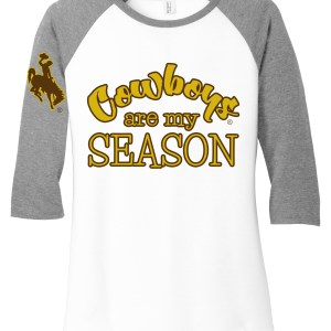 Cowboys Are My Season Raglan Tee
