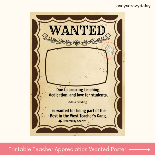 Printable Teacher Appreciation Poster
