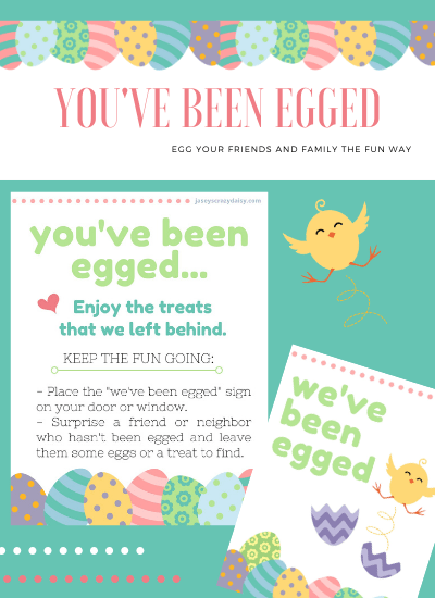 You've Been Egged Printables