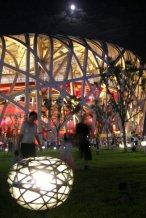 The Bird's Nest stadium at the Beijing Olympics, 2008.