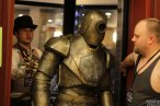 A steampunk automaton (with Adrian Colt as handler) exits the elevator at Cosplacon in Jefferson City, Missouri.