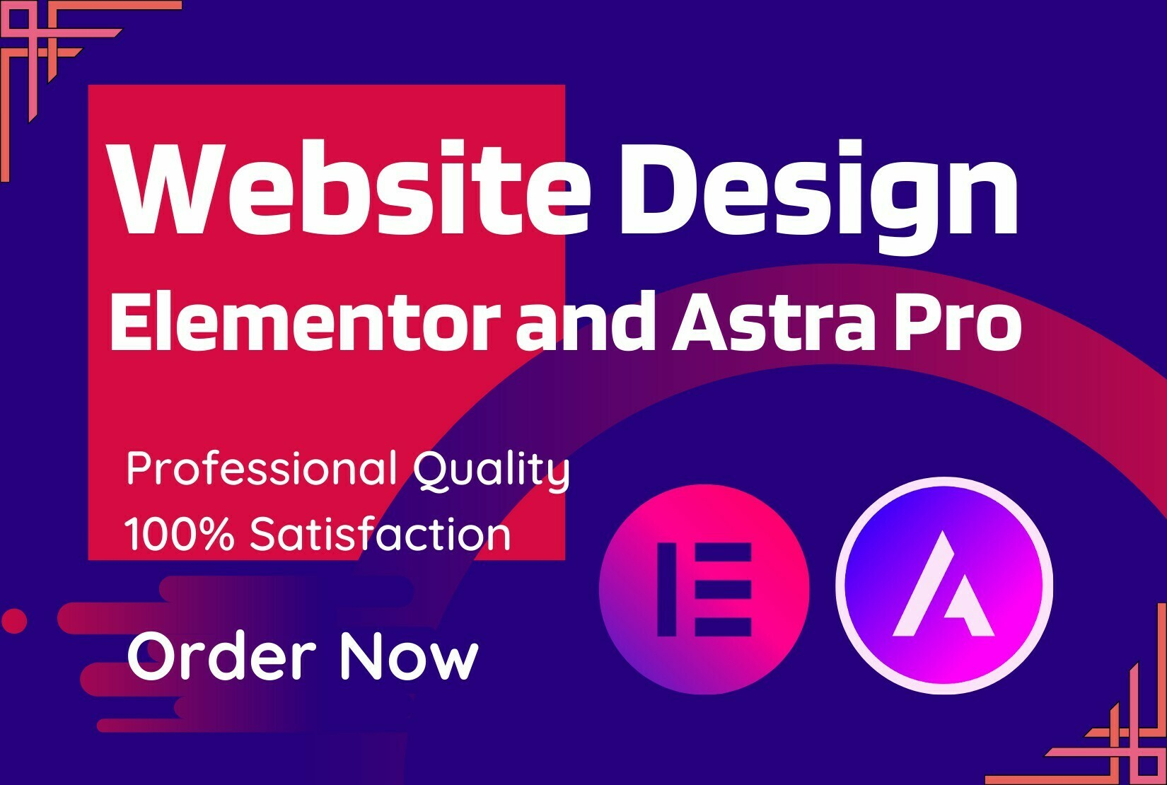 40% Off Now. I will design WordPress website with Elementor Pro and Astra pro
