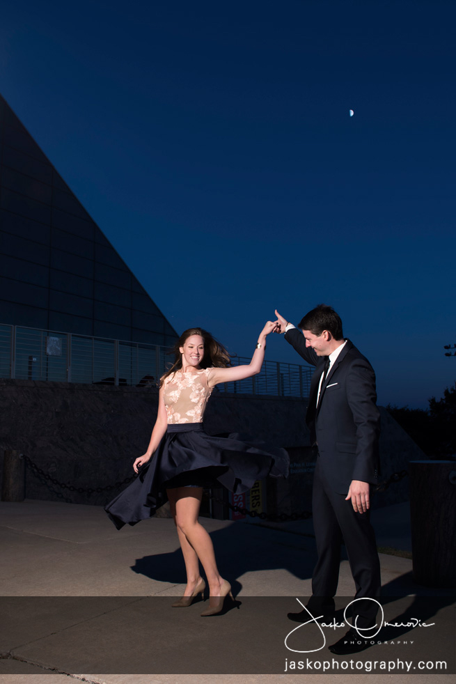 Dancing Couple With moon in the Back