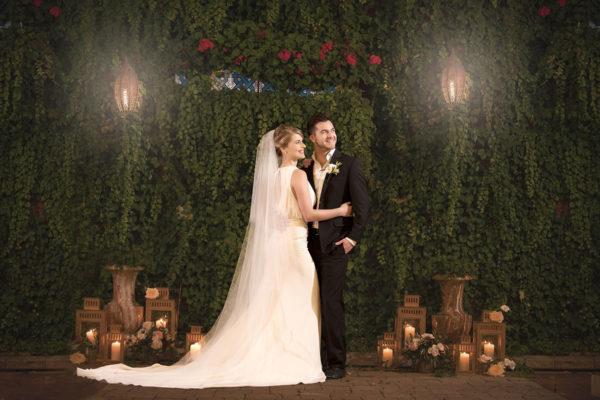galleria marchetti wedding bride and groom portrait