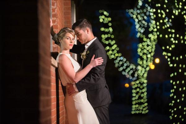 dramatic portrait bride and groom galleria marchetti