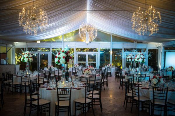 galleria marchetti wedding ballroom setup with beautiful details