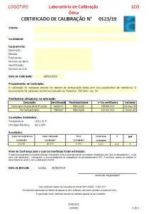 Interpretação de Certificados de Calibração