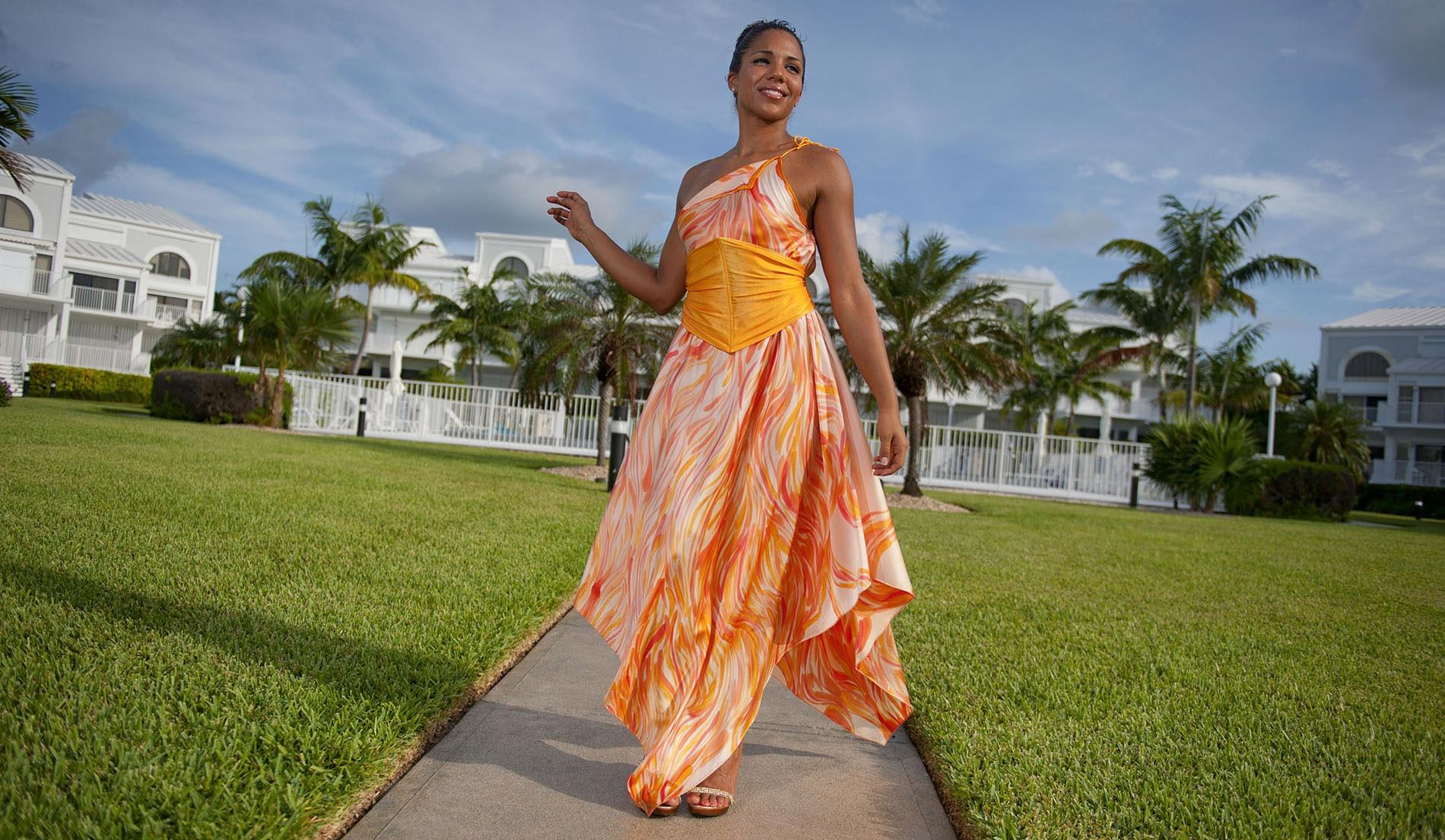 One Shoulder Beach Wedding Dress Look Book For Aruba