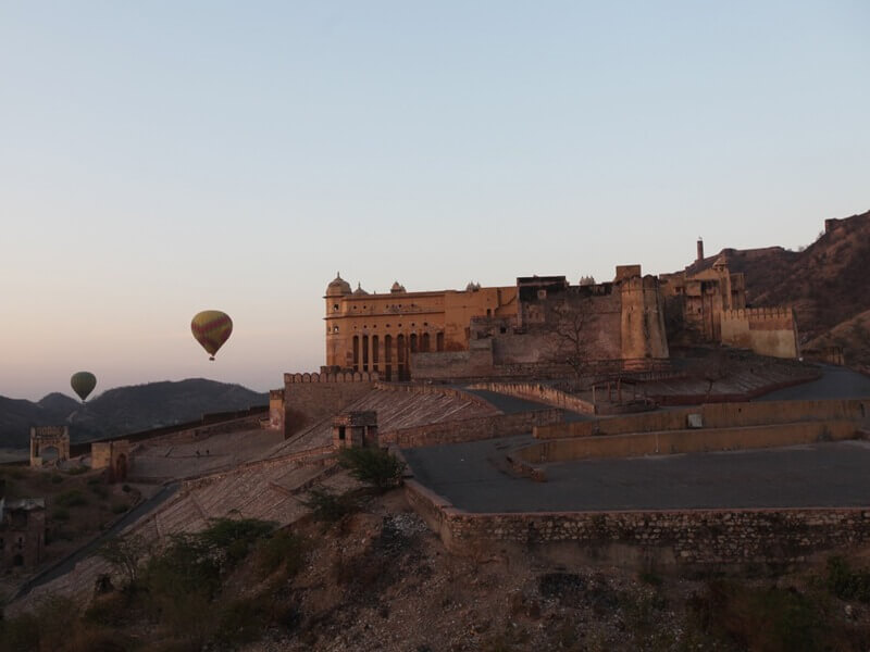 Aerial of Amer Fort Jaipur