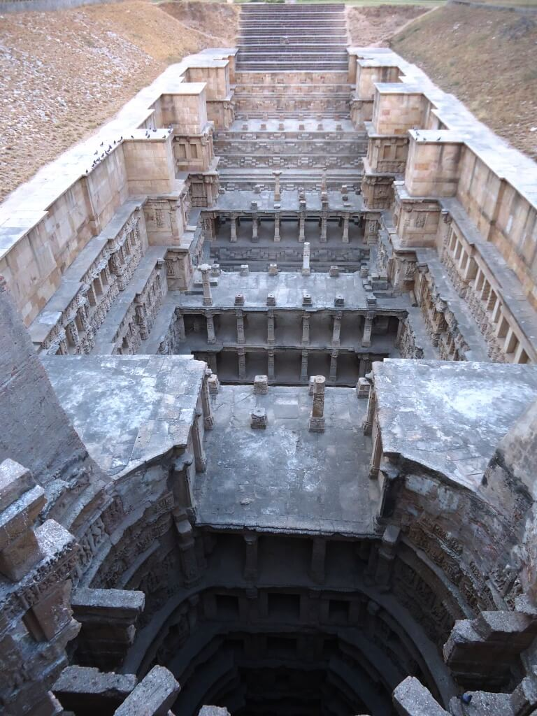 View from above. Stepwell Rani ki Vav in Patan, Gujarat.